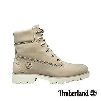 Timberland 女款米白色Heritage Lite 6吋靴
