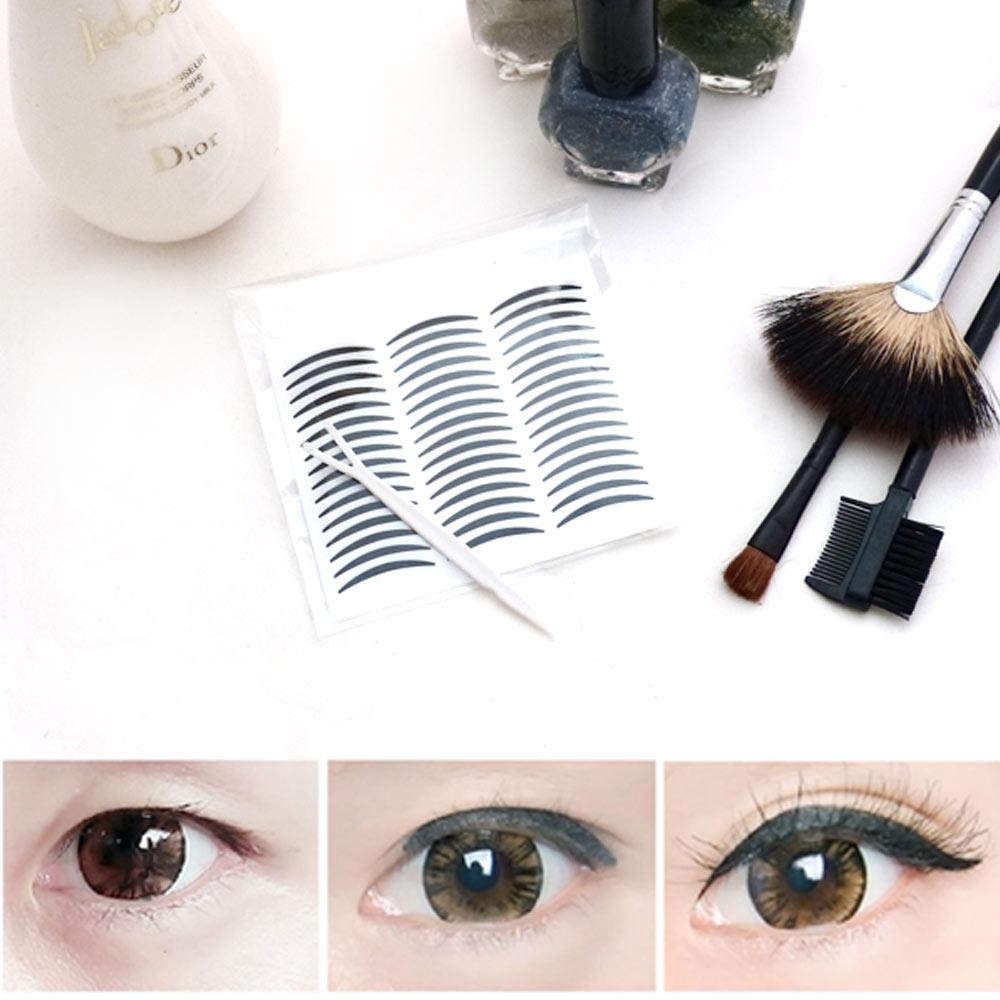 雙眼皮貼眼線貼(黑色)極細版2mm不反光自然款-超值144枚入贈Y型棒