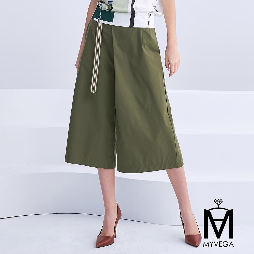 麥雪爾 MA打褶挺版傘狀八分褲
