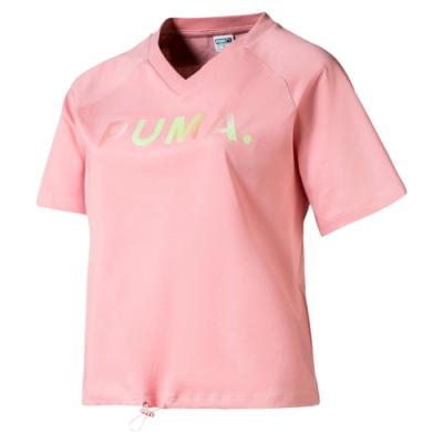PUMA-女性流行系列Chase短袖T恤-新娘玫瑰-歐規
