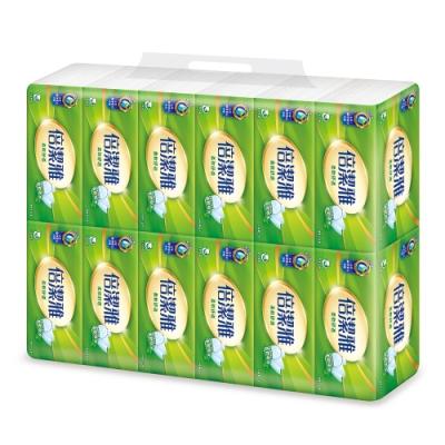 倍潔雅柔軟舒適抽取式衛生紙100抽12包x8袋-2箱組