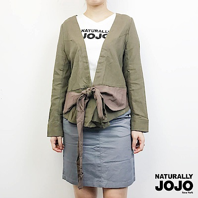 【NATURALLY JOJO】造型繞勁外套(墨綠)