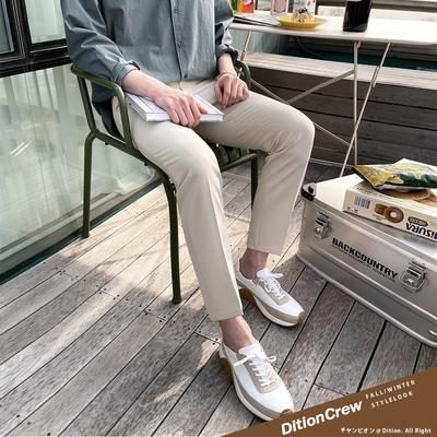 DITION 無印合身SKINNY九分西裝長褲 質感素色正裝 正式 修身 鉛筆褲