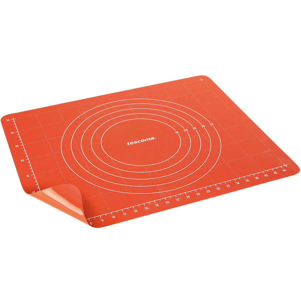 《TESCOMA》測量矽膠烤墊+收納夾(M)