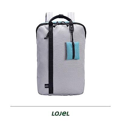 LOJEL TAGO 淺灰色  輕旅行 後背包 筆電包 旅行袋