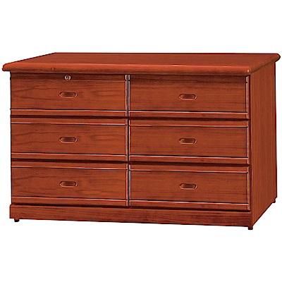綠活居 杜利斯4.7尺實木六斗櫃/收納櫃(二色可選)-141x52.5x78cm免組