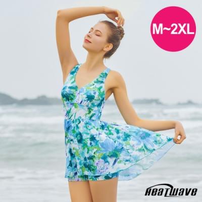 Heatwave熱浪 加大泳裝 萊克連身裙-綠天堂(M-2XL)