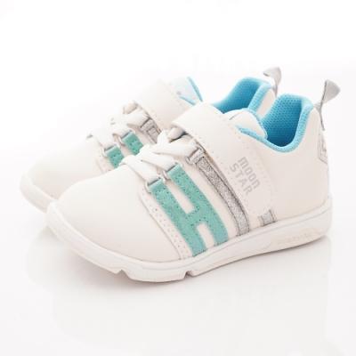 日本月星頂級童鞋 冰雪聯名運動鞋款 ON2459白藍(中小童段)