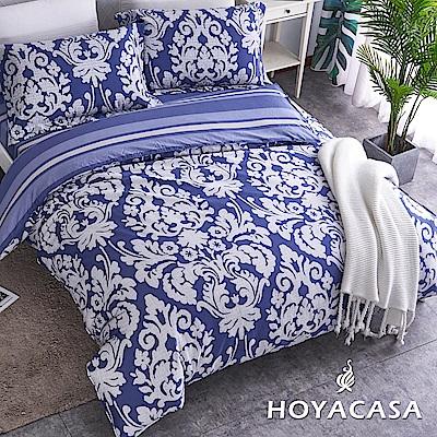 HOYACASA絲諾雅 加大四件式300織精梳長絨棉兩用被床包組