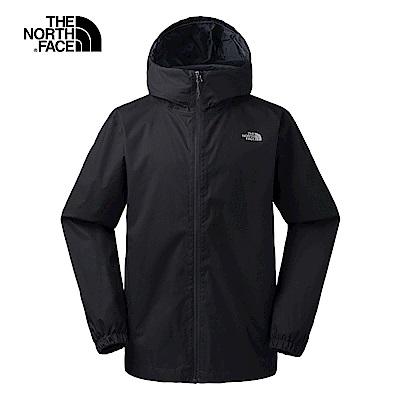 The North Face北面男款黑色防風連衣外套|3L88JK3