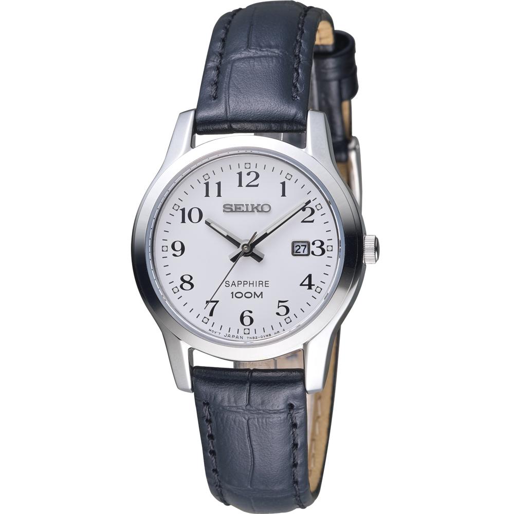 SEIKO 精工 經典設計都會時尚女錶-皮帶款 7N82-0JK0C SXDG91P1