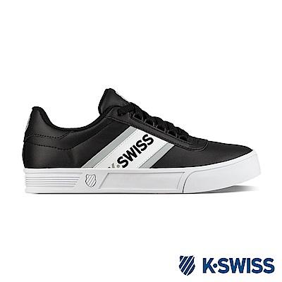 K-Swiss CourtLiteSpelloutS休閒運動鞋-男-白/黑