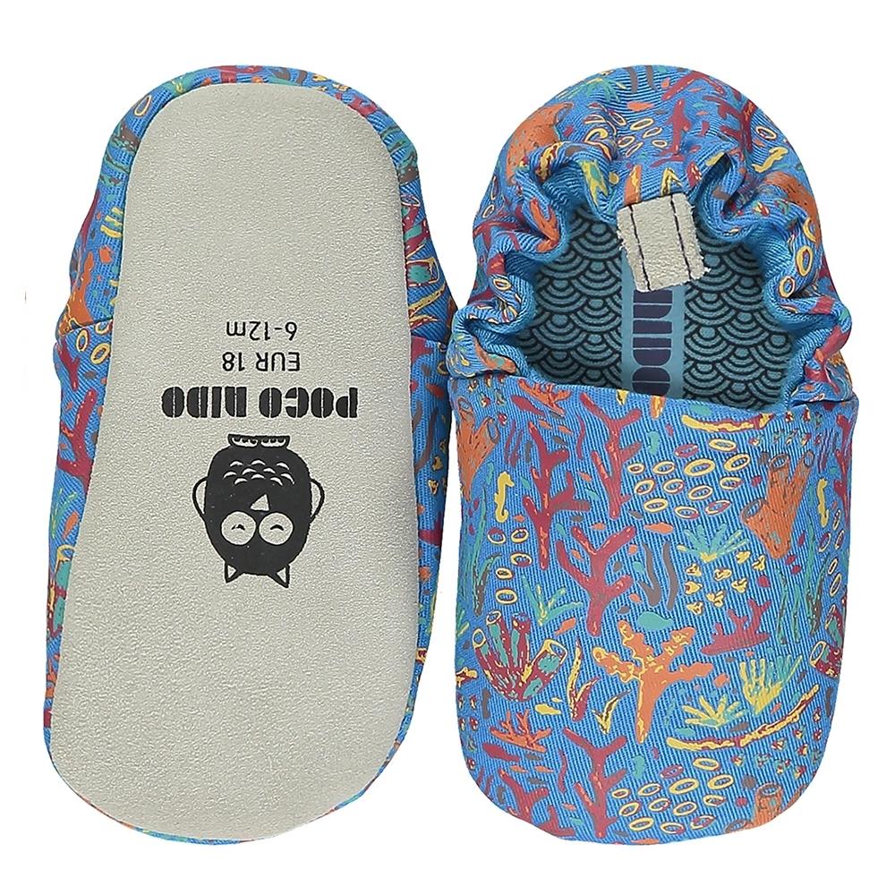 英國 POCO NIDO 手工嬰兒鞋 (浪漫珊瑚礁 - 海洋藍)【2021新款】