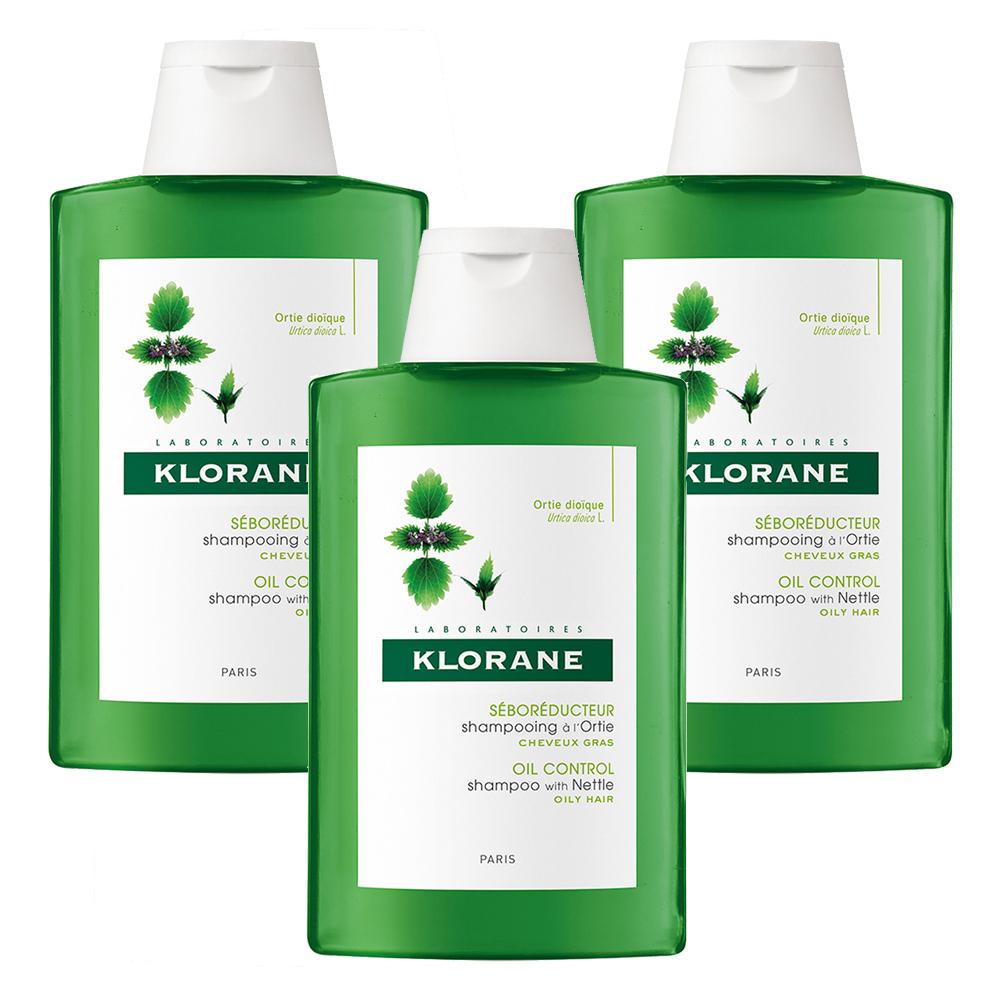 KLORANE蔻蘿蘭 控油洗髮精200ml(3入特惠)