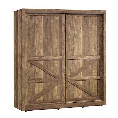 品家居 莉克6.1尺工業風推門衣櫃-183x60x200cm-免組