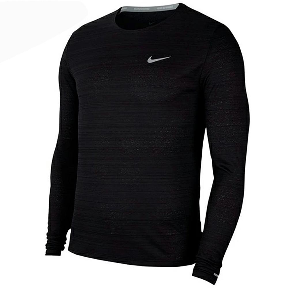 NIKE 上衣 長袖上衣 運動 健身 休閒 男款 黑 CU5990010