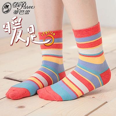 蒂巴蕾 暖足 羊毛襪-千層派