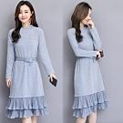 【韓國K.W.】活力玩色百褶魅力修身洋裝-3色
