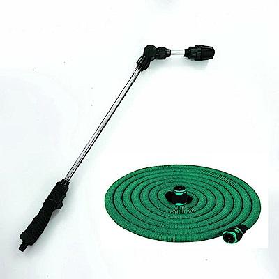 新一代高壓水槍+伸縮水管清潔組-台灣製