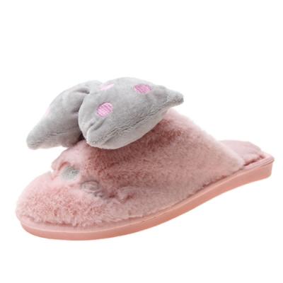 KEITH-WILL時尚鞋館 冬暖甜心室內拖鞋-粉紅色