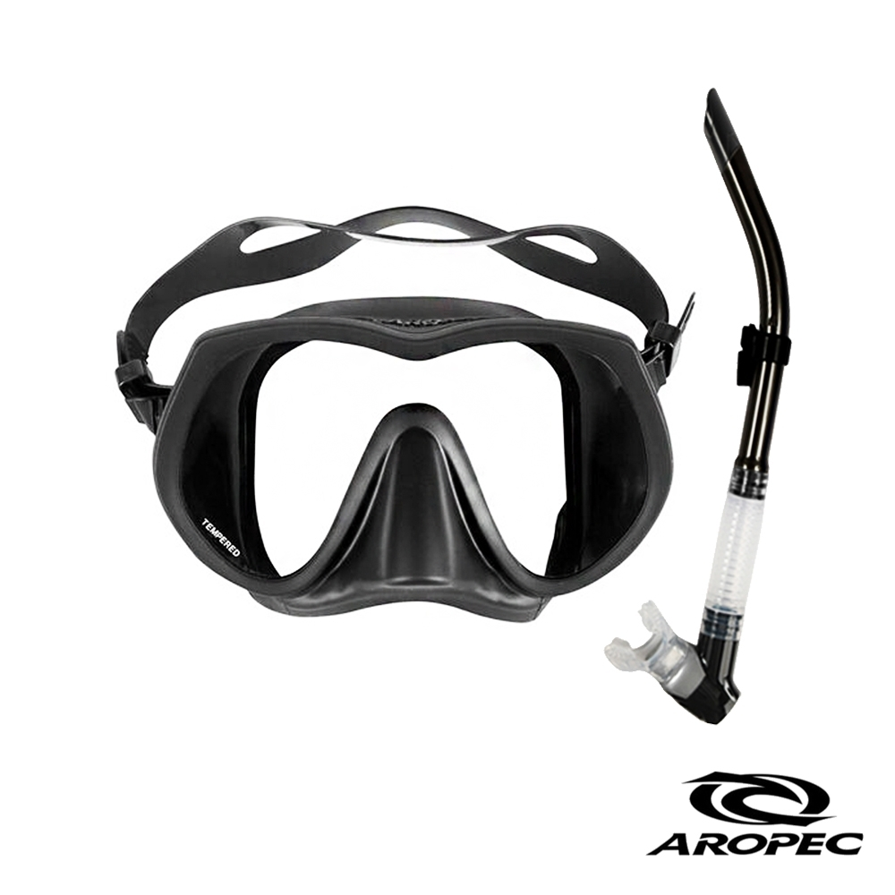 AROPEC Basalt 霧面無框單面鏡潛水精品組