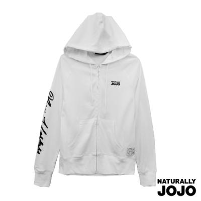 【NATURALLY JOJO】  泡泡紐約印棉外套   (白)
