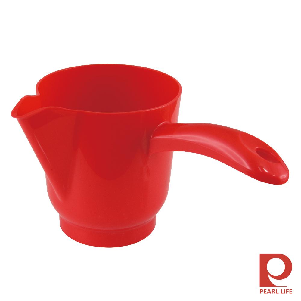日本Pearl Life 點心DE&SE片手附嘴PP麵糊杯紅色-日本製