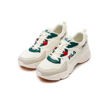 FILA HIDDEN TAPE 2 男慢跑鞋-米/綠 1-J329V-116
