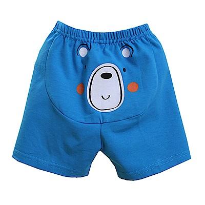 印花休閒短褲  藍 k50329 魔法Baby