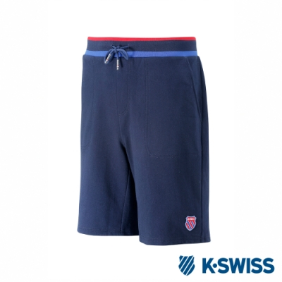 K-SWISS Swear Short Pants棉質短褲-男-藍