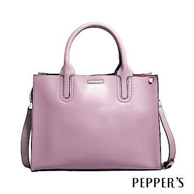 PEPPER`S Audrey 牛皮提包 - 迷霧紫