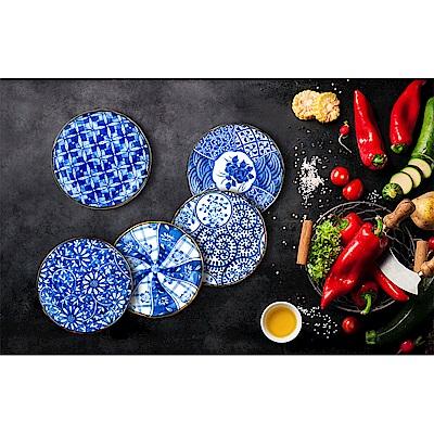 Royal Duke 日本製藍染小盤/餐盤/平盤五件組(16cm)