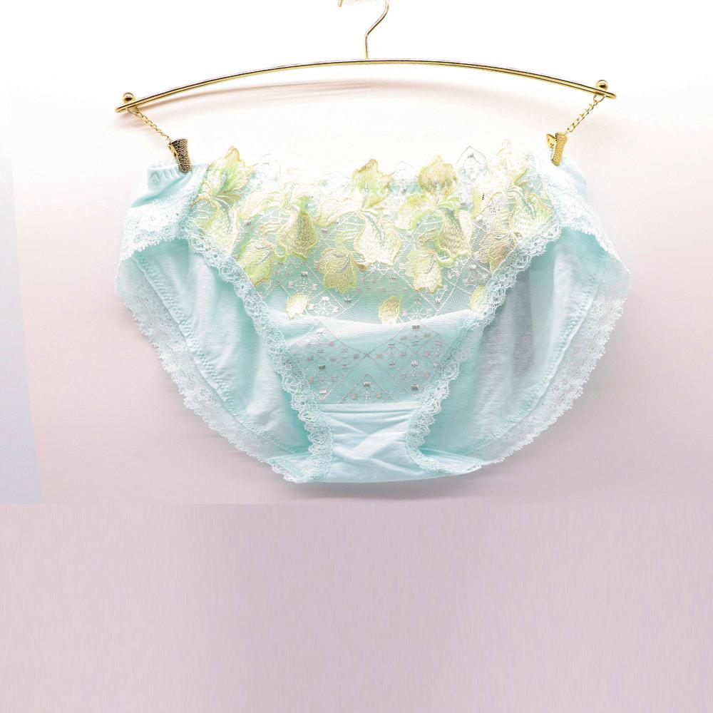 莎露-STUDIO FIVE系列 M-LL 三角蕾絲內褲(清新綠)
