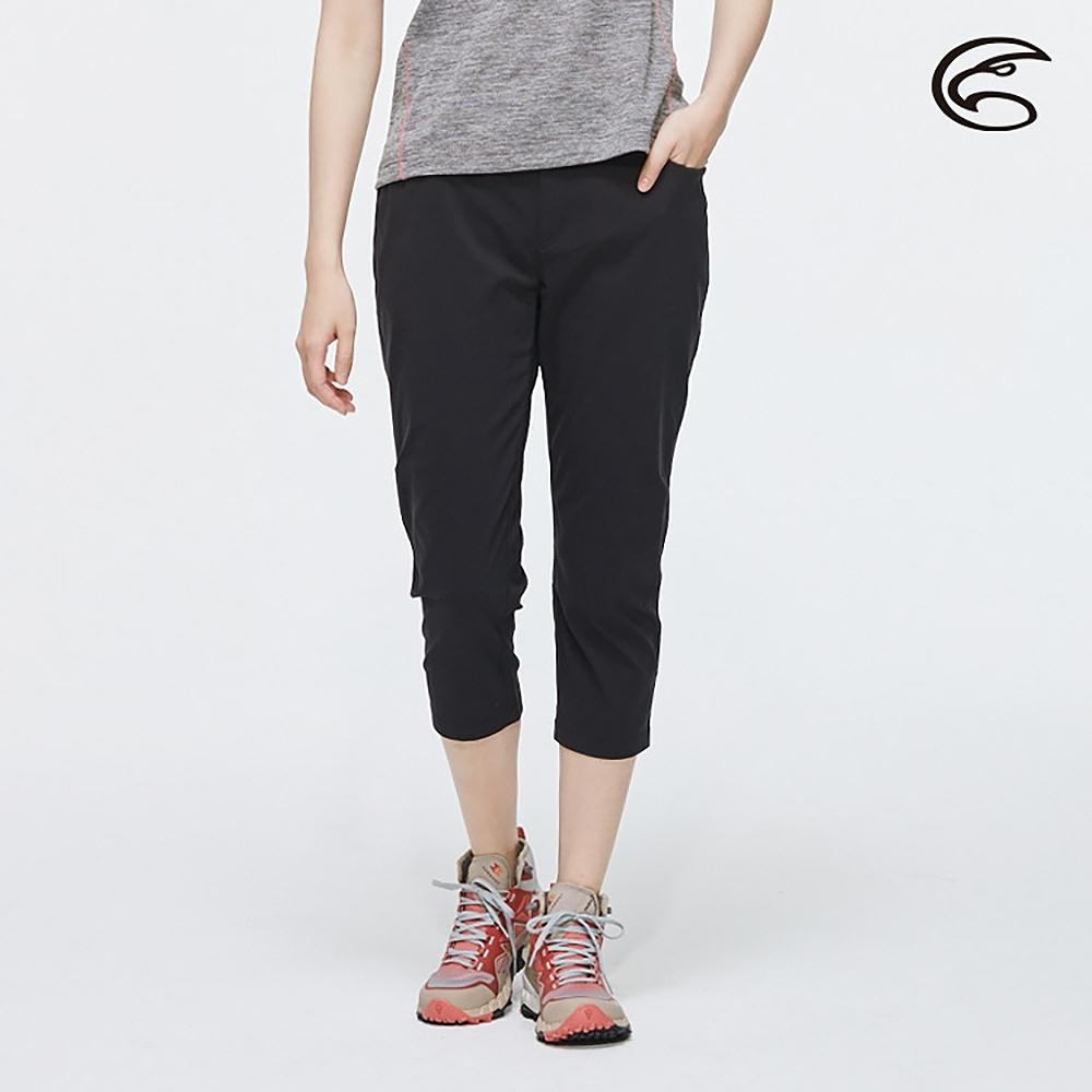 ADISI 女SUPPLEX彈性吸排修身八分褲AP2011026 (S-2XL) 黑色