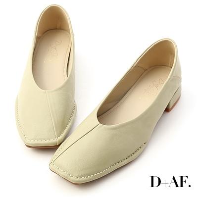D+AF 甜甜淡淡.超軟V口素面包鞋*綠