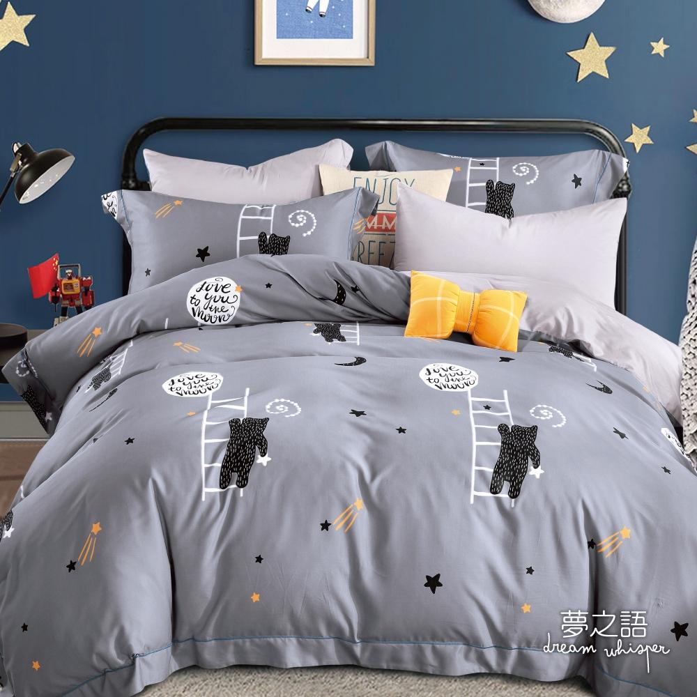 (買一送一)夢之語 3M天絲鋪棉床罩組(多款)-單/雙/大均價 (灰暮星辰)