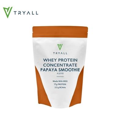 [台灣 Tryall] 濃縮乳清蛋白(500g/袋)-木瓜牛奶