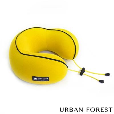 URBAN FOREST都市之森 花卷-旅行頸枕/午睡枕 薑黃