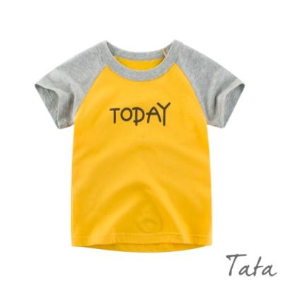 兒童 撞色字母印花上衣 共二色 TATA KIDS
