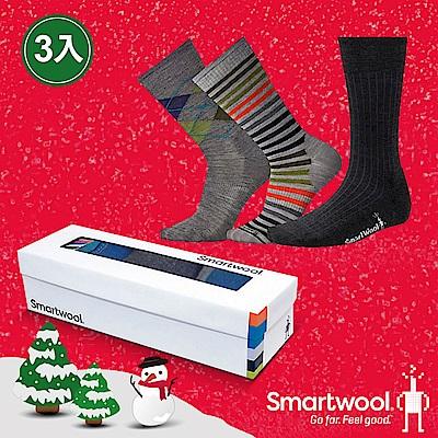 SmartWool Trio 男款經典襪組 綠色系
