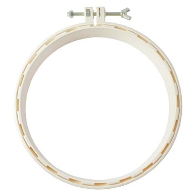 日本可樂牌Clover 打孔針箍繡花框架 直徑18cm 57-774(白色)