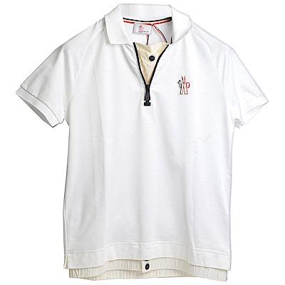 MONCLER GRENOBLE 義大利製品牌LOGO兩件式造型POLO衫(男款/M)