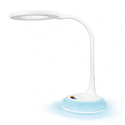 KINYO 觸控式大廣角LED檯燈(PLED-437)三光七彩