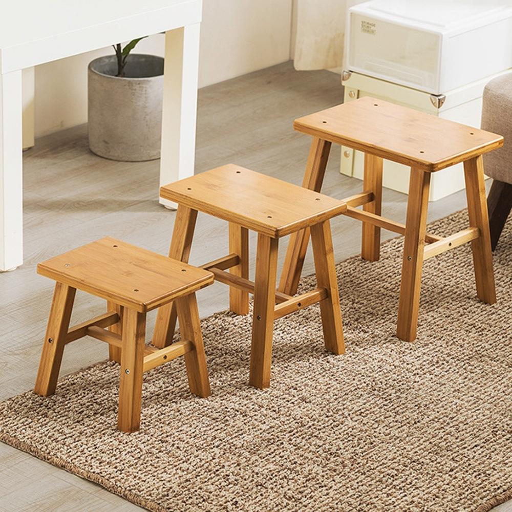 [限時買一送一] HappyLife楠竹小方凳 24×20×24CM-平均$220/張
