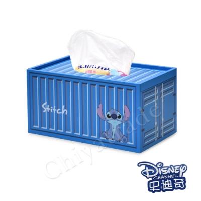 CY本舖【迪士尼Disney】史迪奇 貨櫃屋造型 衛生紙盒 面紙盒 收納盒 桌上收納 文具收納(正版授權)