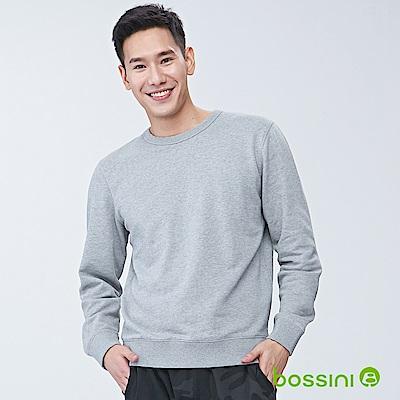 bossini男裝-圓領厚棉T恤01淺灰