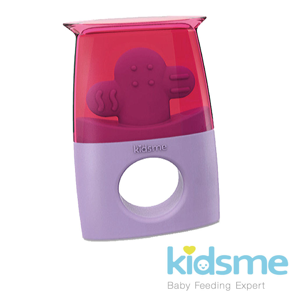 英國kidsme-冰棒兩用固齒器-紫紅/黃綠