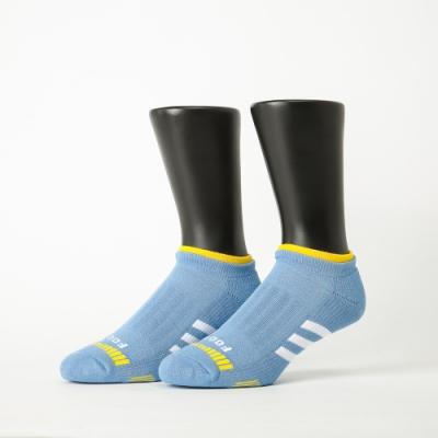Footer除臭襪-輕壓力三線運動船短襪-六雙入(黑*2+藍*2+灰*2)