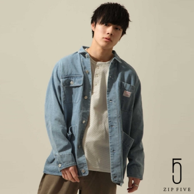 KANGOL丹寧工裝夾克 (7色) -ZIP日本男裝