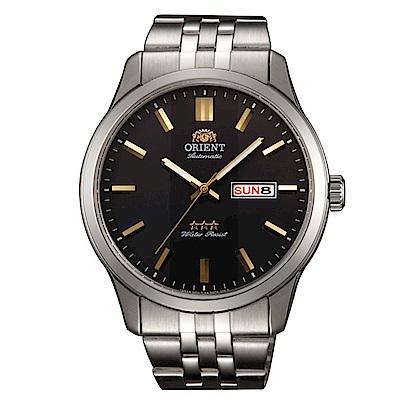 ORIENT 老牌經典金彩時刻石英腕錶(SAB0B009BB)-黑面x42mm